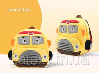 Рюкзак качество для мальчика School детский плюшевый 3 - 4 года 5 лет Школьный Автобус