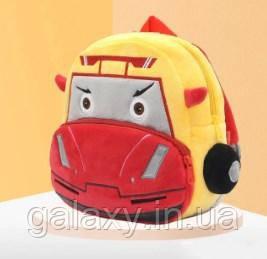 Рюкзак детский для мальчика Гоночный автомобиль плюшевый 3-5 лет