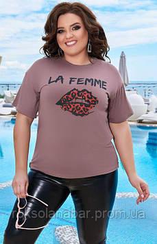 Футболка жіноча молодіжна з малюнком LA FEMME