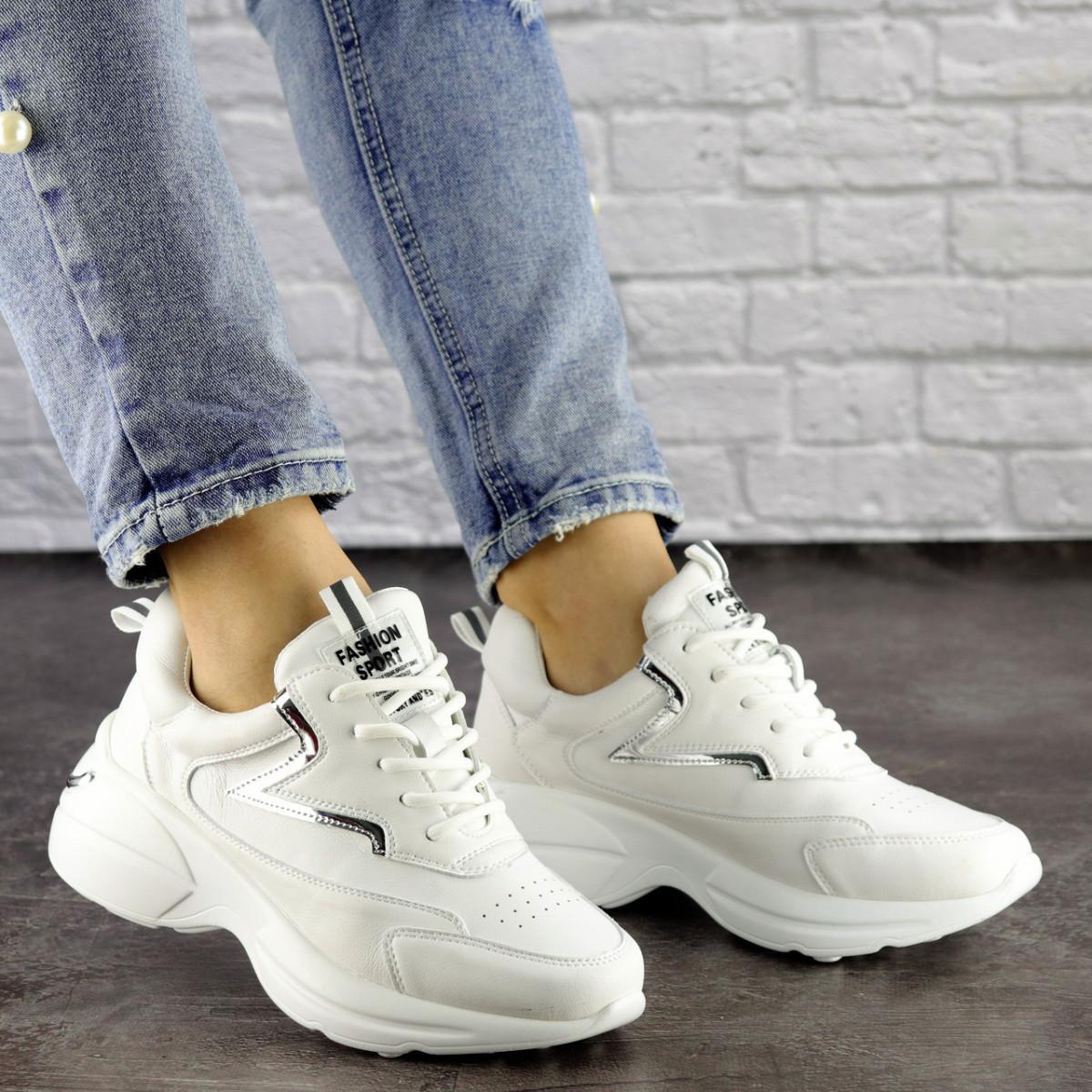 Женские кроссовки Fashion Cora 1502 36 размер 23 см Белый 38