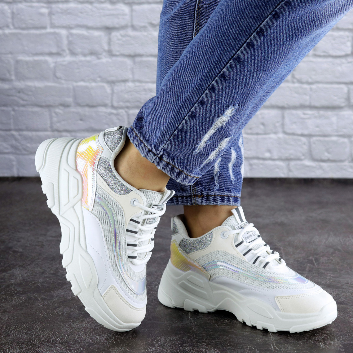 Жіночі кросівки Fashion Ferris 1749 37 розмір 23 см Білий