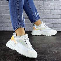 Жіночі кросівки Fashion Ferris 1749 37 розмір 23 см Білий, фото 3