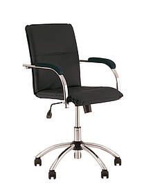 Кресло офисное Samba GTP Soft механизм Tilt крестовина CHR10 экокожа V-04 (Новый Стиль ТМ)