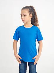 Дитяча однотонна футболка вільного крою (блакитний)