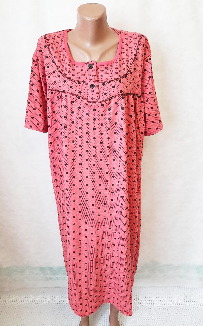 Ночные рубашки женские баталы хлопок р.58,60,62,64. От 4шт по 97грн