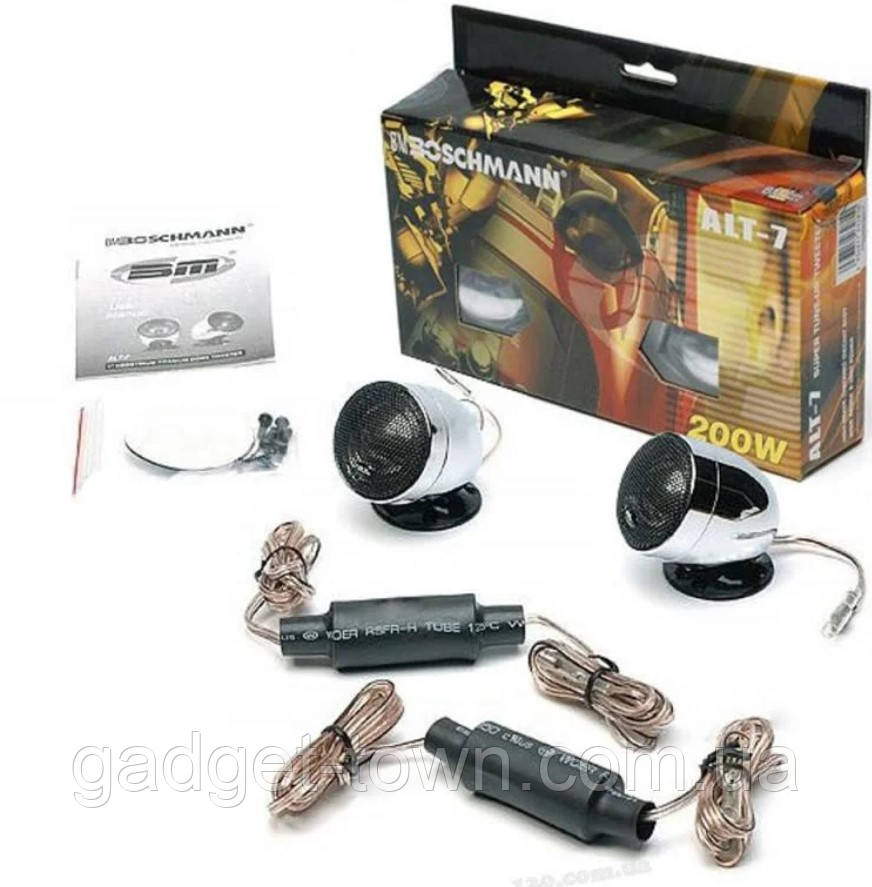 Твитеры в машину автозвук бошман BM Boschmann ALT-7S пищалки автомобильные комплект для авто 2 шт