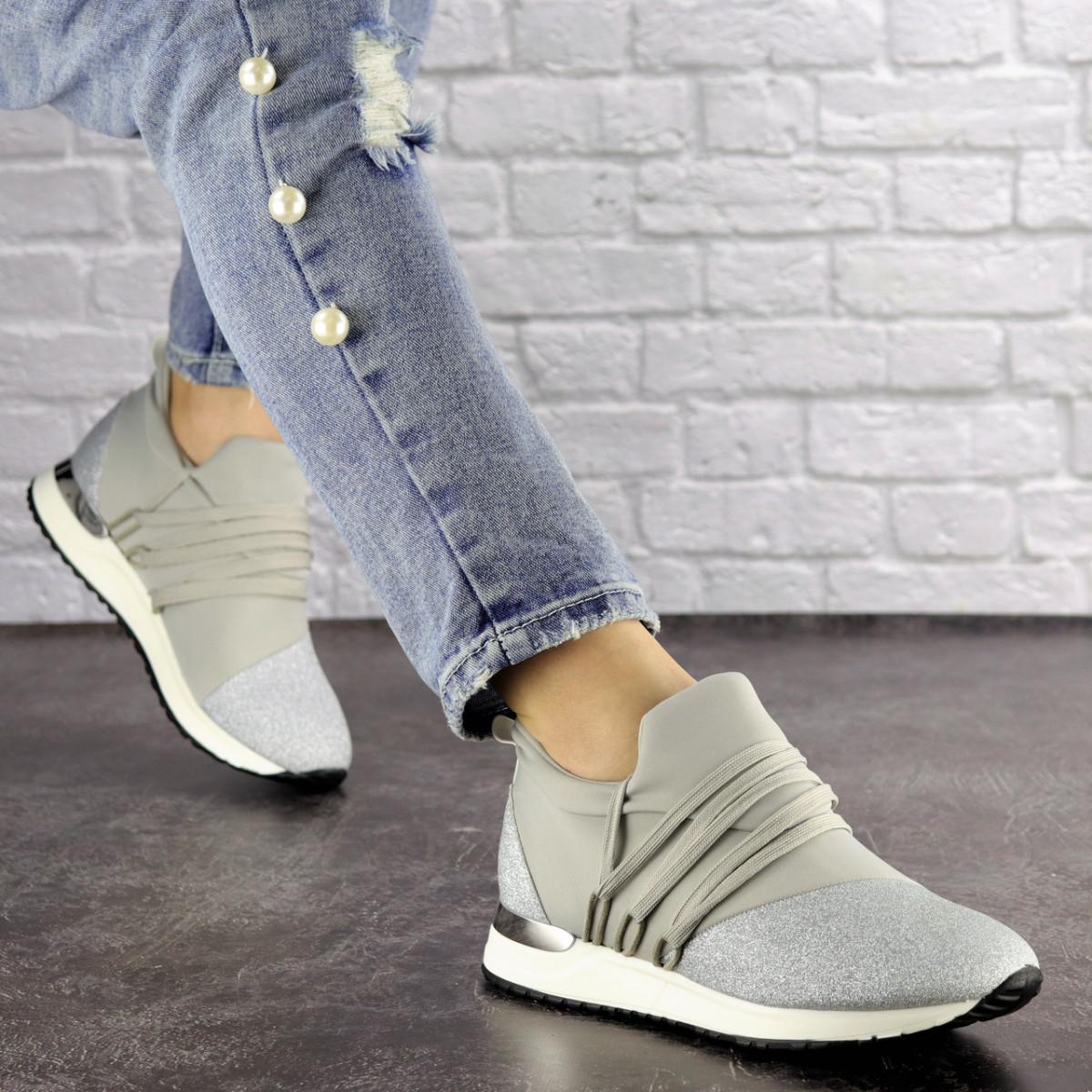 Жіночі стильні кросівки Fashion Ringer 1036 36 розмір 22,5 см Срібло