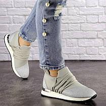 Жіночі стильні кросівки Fashion Ringer 1036 36 розмір 22,5 см Срібло, фото 3