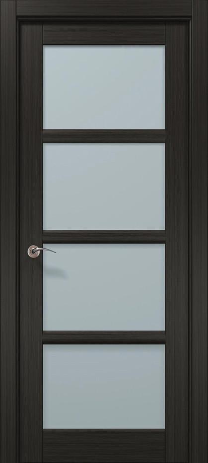 Межкомнатная дверь «Папа Карло» CP-13 (застекленная), дуб серый