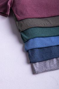 Однотонна футболка прилеглого силуету (кольори в асортименті)