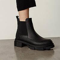 Женские ботинки Челси Kelly Corso с тиснением натуральная кожа черные