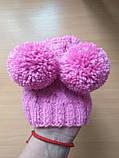 Одяг для собаки шапка з двома помпонами, фото 9