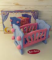 Іграшкова ліжечко для ляльок, колиска для ляльок 4166