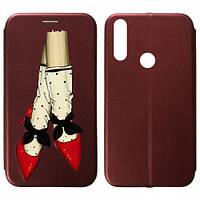 Чехол книжка для Huawei P Smart Z Marsala Red Shoes