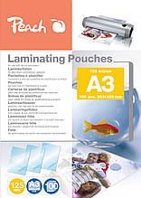 Плівка для ламінування глянцева А3 Peach | 303 х 426 мм | 125 мкм глянець | 100 шт