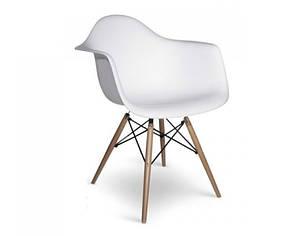 Кресло Тауэр Вуд, ножки Бук, пластик Белый (СДМ мебель-ТМ)
