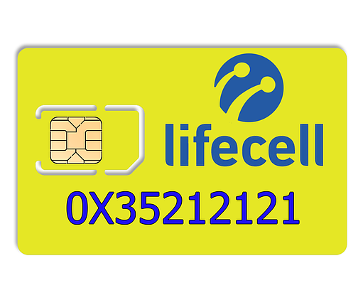 Красивый номер lifecell 0X35212121, фото 2
