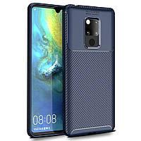 Чехол Carbon Case Huawei Mate 20 Синий