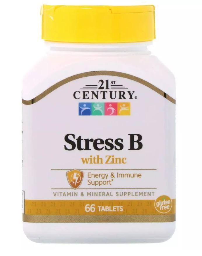 21st Century Stress B with Zinc, Вітамін B комплекс (66 таб.)