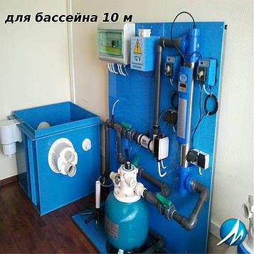 Монтаж оборудования бассейна длиной 10 м