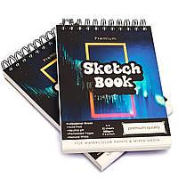 Видеообзор! Бумага для скетчинга и рисования А5 250 г\м2 для 50 листов, альбом на спирали (54875487)
