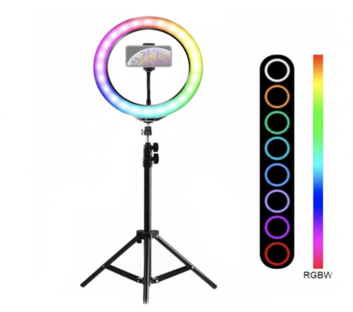 Кольцевая лампа RGB MJ33 с штативом 2м