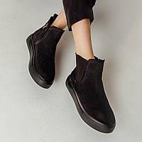 Ботинки женские Челси Kelly Corso натуральная замша черные весна/осень