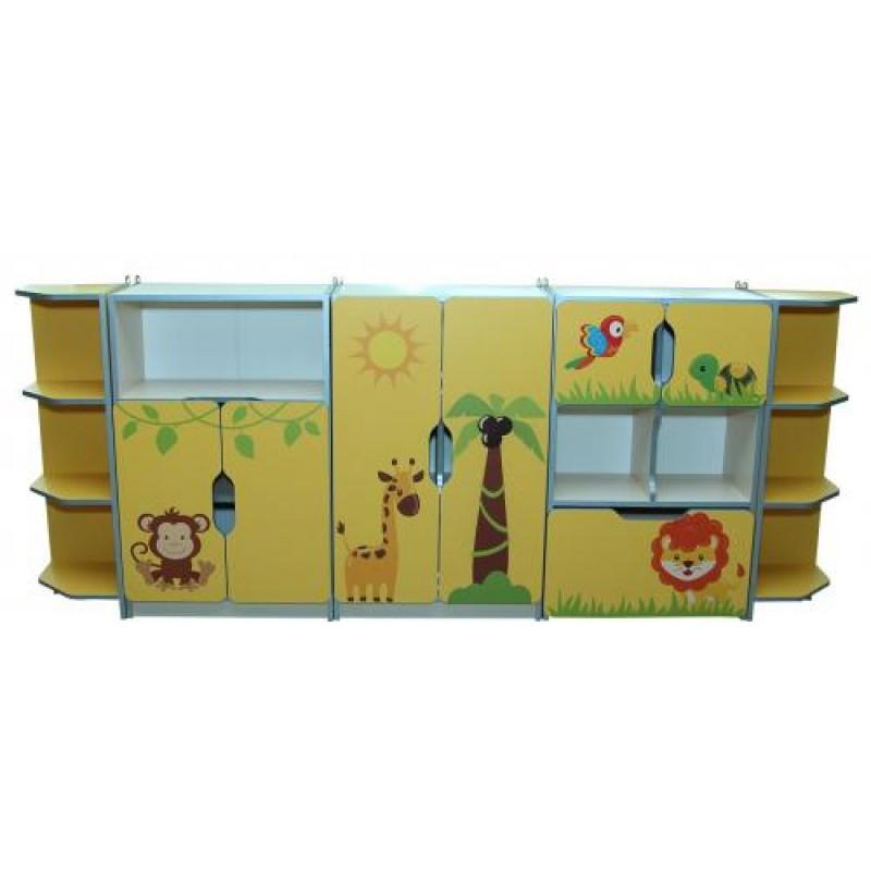 Стінка для іграшок Звірята 2400*300*950h