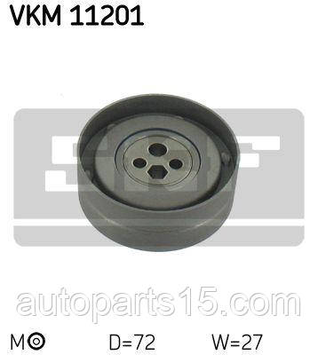 Натяжной ролик ремня ГРМ AUDI 80,  A4, A6,  COUPE. SKF. VKM 11201