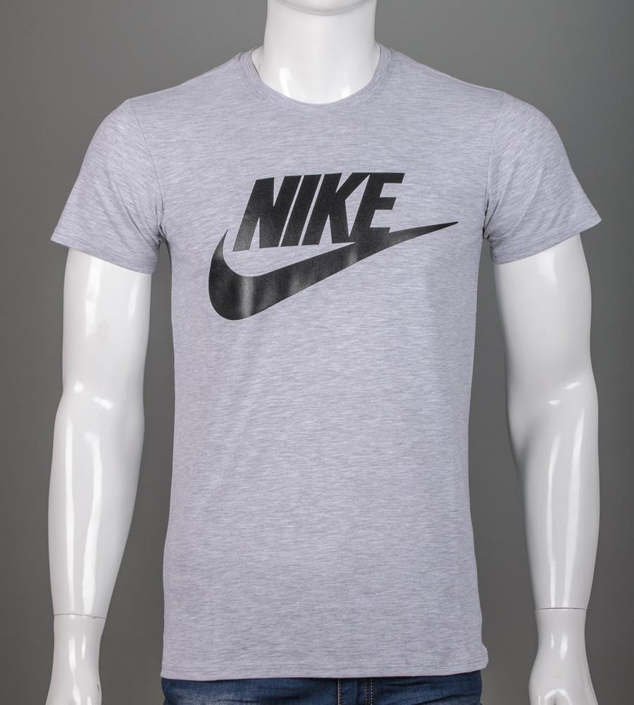 Футболка мужская NIKE (2110м), Серый меланж