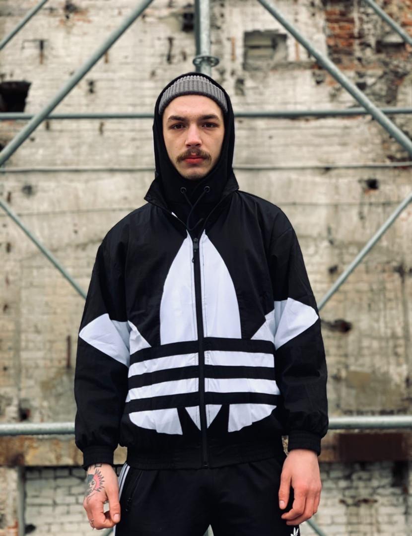 Вітровка Adidas Oversize Black/White