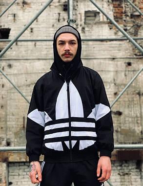Вітровка Adidas Oversize Black/White, фото 2