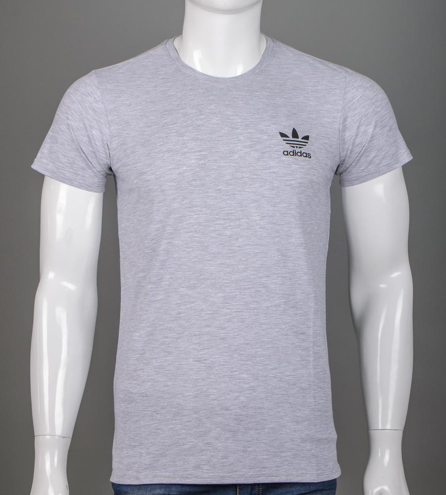 Футболка мужская Adidas (2111м), Серый меланж