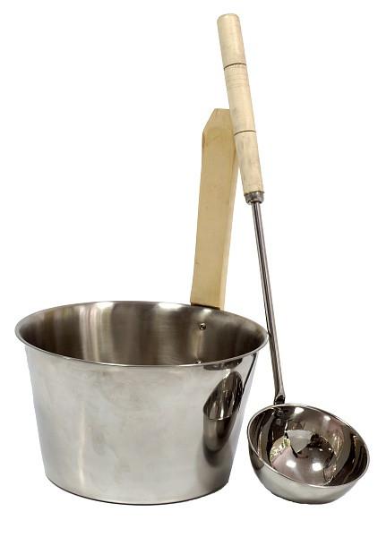 Зграя для сауни з нержавійки + черпак для лазні