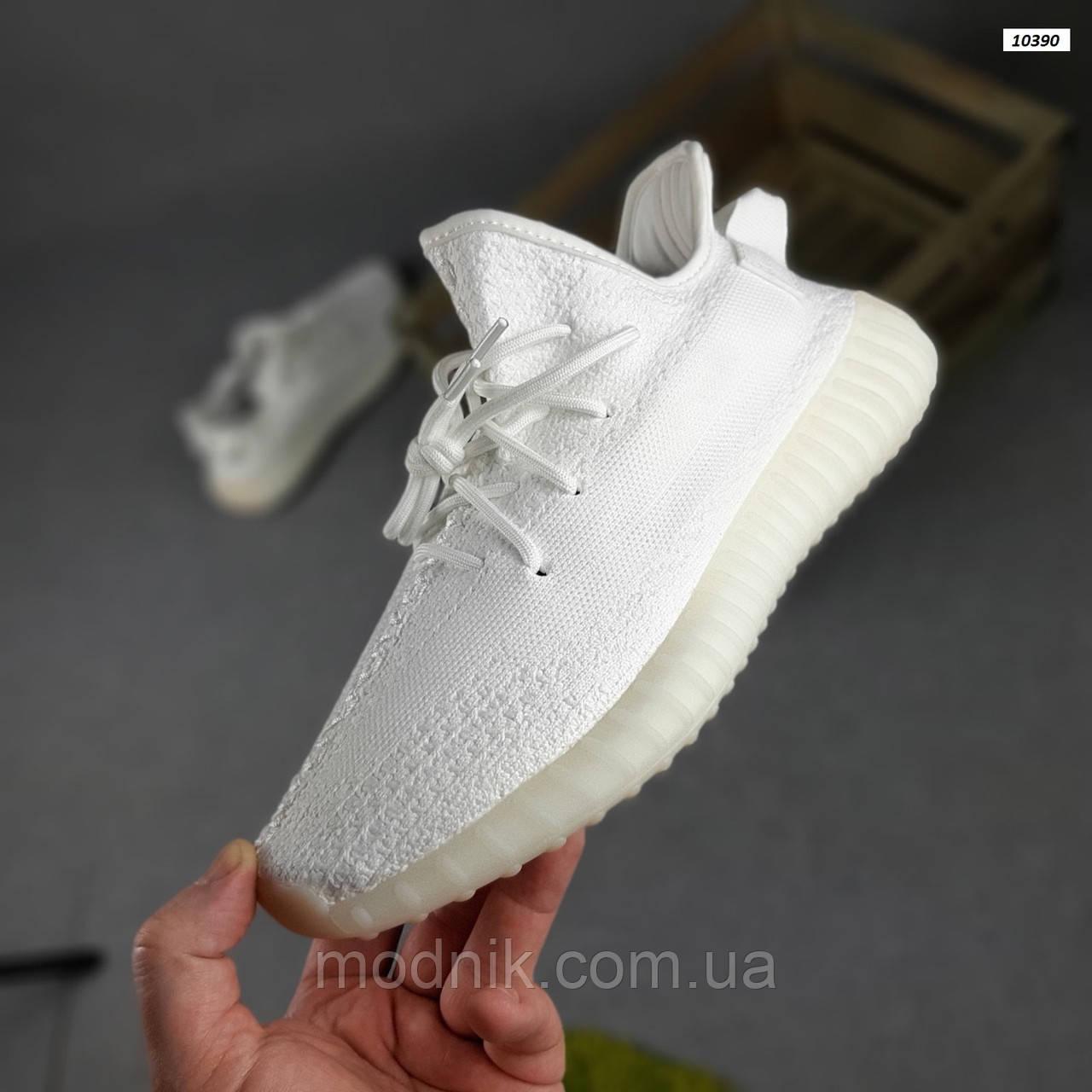 Женские кроссовки Adidas Yeezy Boost 350 (белые) 20271 спортивные повседневные кроссы