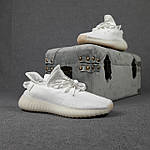 Женские кроссовки Adidas Yeezy Boost 350 (белые) 20271 спортивные повседневные кроссы, фото 6