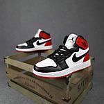 Женские кроссовки Nike Jordan (белые с черным и красным) спортивные демисезонные кроссы 20275, фото 2