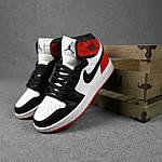 Женские кроссовки Nike Jordan (белые с черным и красным) спортивные демисезонные кроссы 20275, фото 4