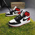 Женские кроссовки Nike Jordan (белые с черным и красным) спортивные демисезонные кроссы 20275, фото 6