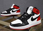 Женские кроссовки Nike Jordan (белые с черным и красным) спортивные демисезонные кроссы 20275, фото 10