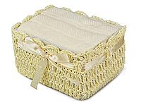 Набор из 2-х полотенец в плетенной корзине, размер 40х60 см