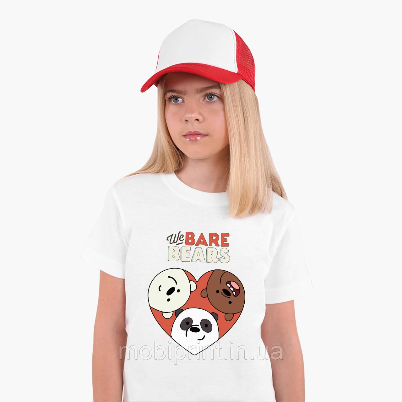Футболка детская Вся правда о медведях (We Bare Bears) Белый (9224-2669)