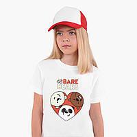 Футболка дитяча Вся правда про ведмедів (We Bare Bears) Білий (9224-2669), фото 1