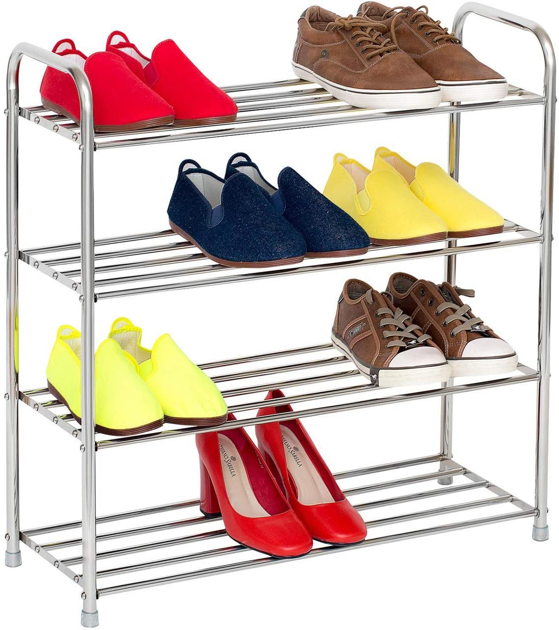 Этажерка для обуви Tatkraft Good с нержавеющей стали 65*24*64 см 10185