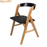 Стул обеденный из натурального дерева Sova, со спинкой. Обеденный стул для ресторана, кафе, террасы, дома,бара
