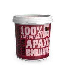 Арахісова паста 1000 г, З чорним шоколадом та вишнею