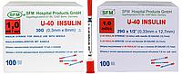Шприц інсуліновий U-40 з вбудованою голкою 1,0 мл