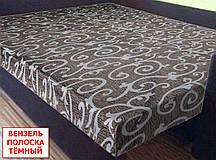 Двоспальнепростирадлона резинці - Вензель полоска темний