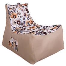 Безкаркасне крісло Барселона велюр TIA-SPORT