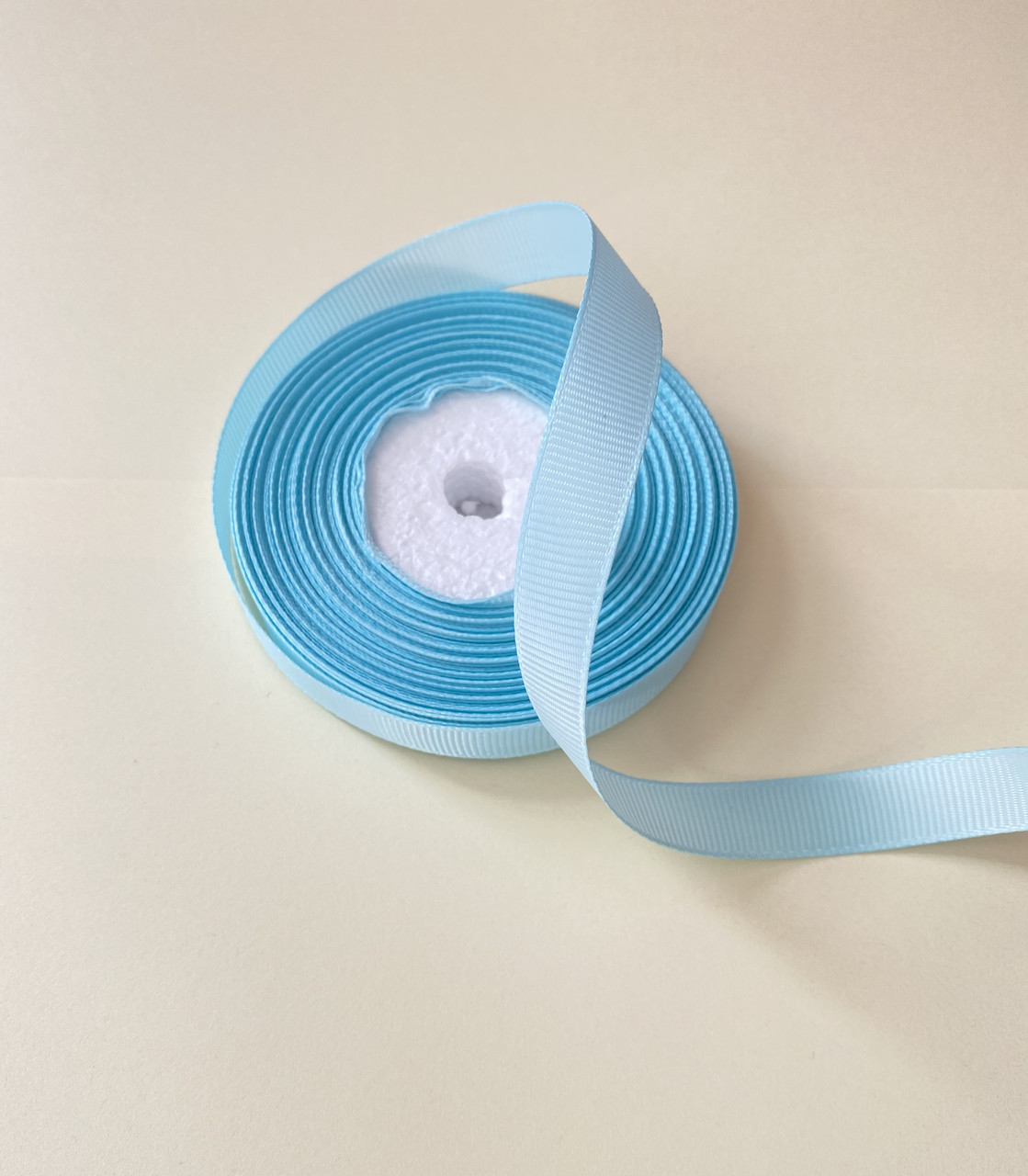 Лента репсовая 12 мм 18 метра голубая